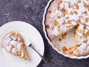 Easy Rhubarb Cake. Простой Пирог с Ревенем