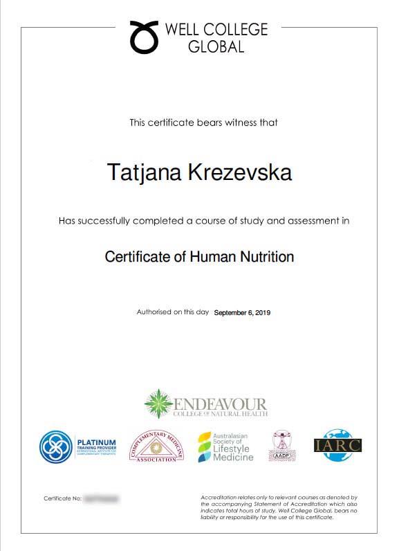 HumNut Course Certificate w600