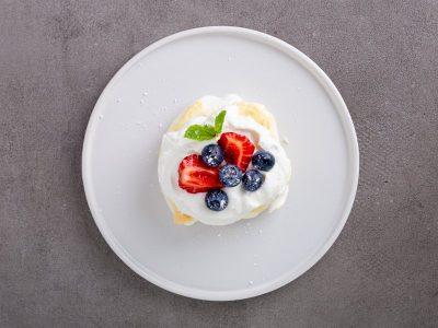 Пирожное Павлова, кето десерты, кето павлова