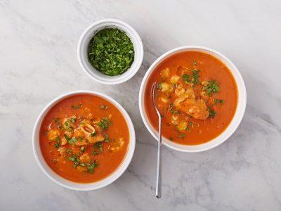 Томатный Суп с Морепродуктами, tomato seafood chowder